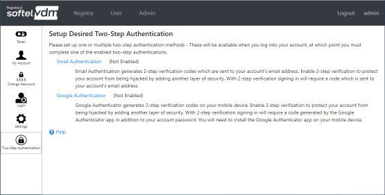 Setup Two-Step Authentication